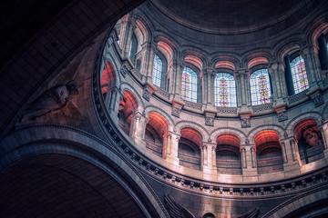 Dome of the Sacre-Coeur basilica in Montmartre, Paris