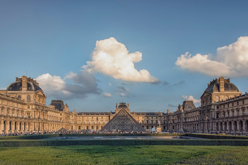 Louvre museum in daytime in Paris, France