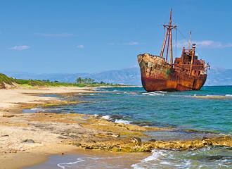Fotobehang Schip Rusty big ship