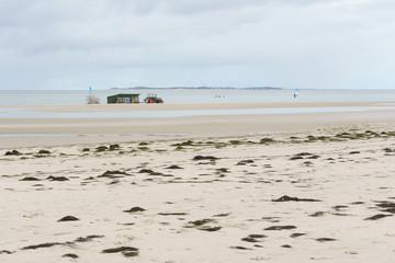 Fototapete - Surfschule auf der Nordseeinsel Amrum