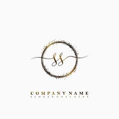 SS Initial luxury handwriting logo vector