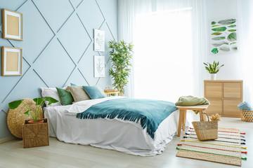 Fototapeta Interior of beautiful modern bedroom obraz