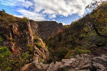 Bodetal im Herbst oberhalb des Bodekessels nahe Thale