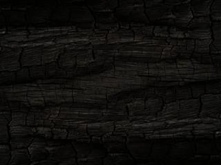 Poster de jardin Texture de bois de chauffage The Surface of charcoal background.