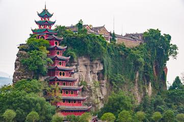 Fotobehang Bedehuis Grand fortress Shibaozhai