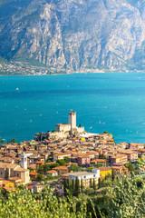 Fototapete - Malcesine, a small and beautiful village on Garda Lake coast. Veneto, Italy