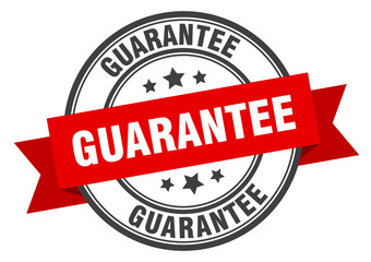 guarantee label. guarantee red band sign. guarantee