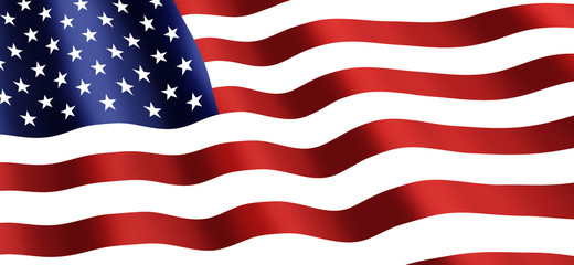 American National Holiday. US Flag background with American stars, stripes and national colors.
