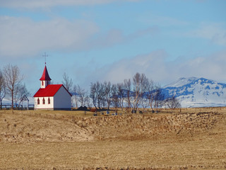 Church in a secluded landscape