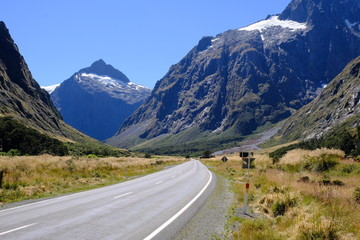 Road to Milford Sound near Homer Tunnel, Fiordland National Park, New Zealand