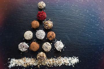 Christmas Homemade chocolate candy balls