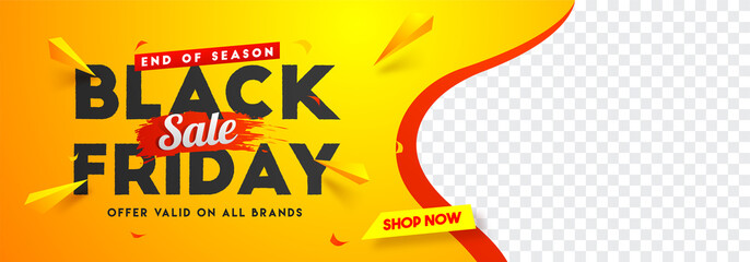 Black Friday sale website banner design with space for your product image. Fotobehang