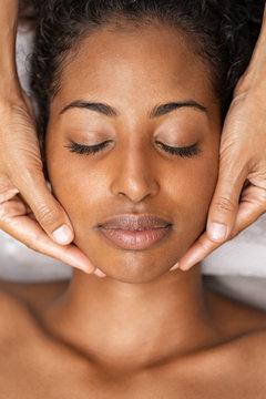 Massage face at spa