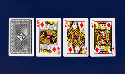 Playing Cards full deck with plain background mockup casino poker