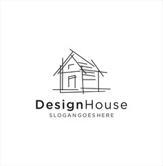 Architect house logo, architectural and construction design vector . abstract .  Renovation Logo