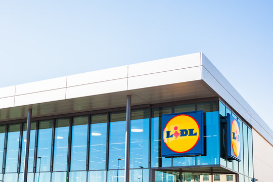 LIDL supermarket chain brand logo