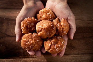 chouquettes, pastries typical of France