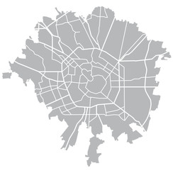 Milano vector grey map