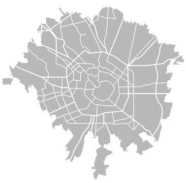 Milano vector grey map
