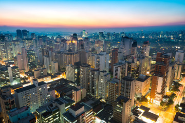 Deurstickers Brazilië Panoramic view of Sao Paulo, Brazil, South America