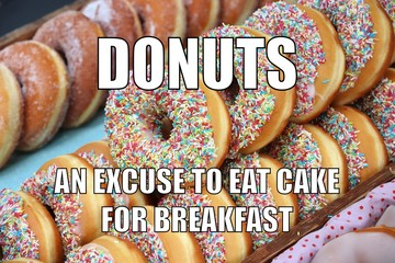 Funny meme with donuts