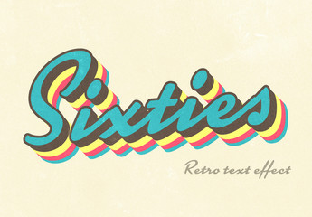 Vintage Sixties-Style Text Effect