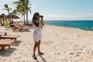 Teen Black Girl on a Beach