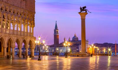 Aluminium Prints Venice San Marco square at sunrise. Venice, Italy
