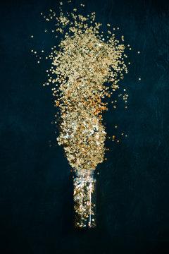 Small bottle of golden spark
