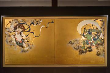 Fototapeten Kyoto 建仁寺の風神雷神図屏風