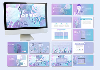 Pastel Presentation Layout with Plant Images