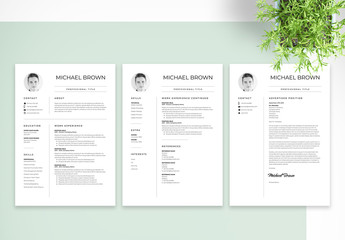 Minimal Resume and Cover Letter Set