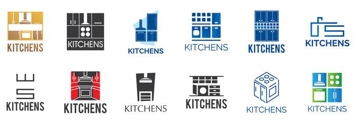 Vector logo of kitchen furniture, kitchen production
