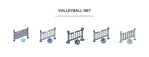 volleyball net icon in different style vector illustration. two colored and black volleyball net vector icons designed in filled, outline, line and stroke style can be used for web, mobile, ui