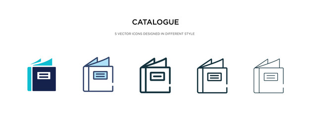catalogue icon in different style vector illustration. two colored and black catalogue vector icons designed in filled, outline, line and stroke style can be used for web, mobile, ui