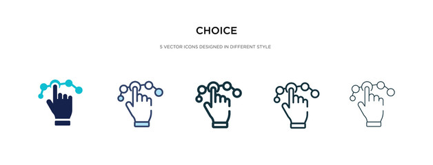 choice icon in different style vector illustration. two colored and black choice vector icons designed in filled, outline, line and stroke style can be used for web, mobile, ui