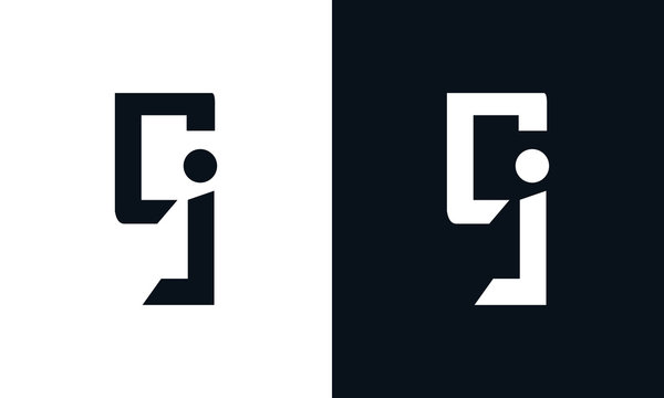 Minimalist abstract letter CJ logo. This logo icon incorporate with two abstract shape in the creative process.