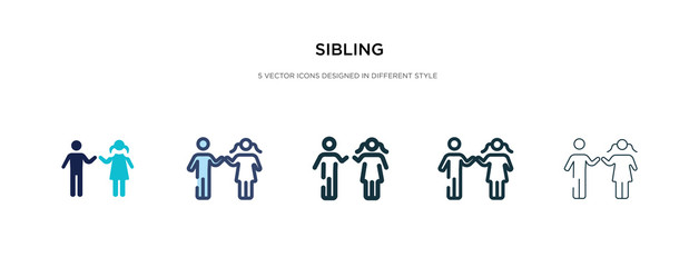 sibling icon in different style vector illustration. two colored and black sibling vector icons designed in filled, outline, line and stroke style can be used for web, mobile, ui