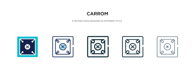 carrom icon in different style vector illustration. two colored and black carrom vector icons designed in filled, outline, line and stroke style can be used for web, mobile, ui