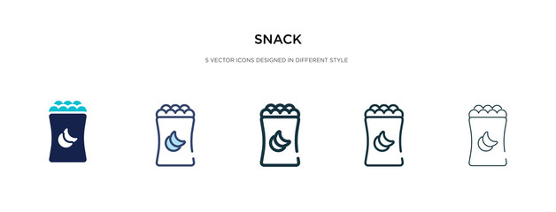 snack icon in different style vector illustration. two colored and black snack vector icons designed in filled, outline, line and stroke style can be used for web, mobile, ui