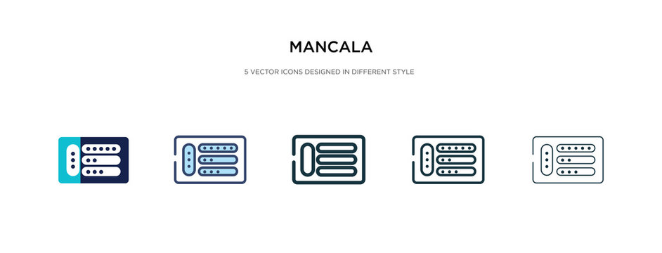 mancala icon in different style vector illustration. two colored and black mancala vector icons designed in filled, outline, line and stroke style can be used for web, mobile, ui