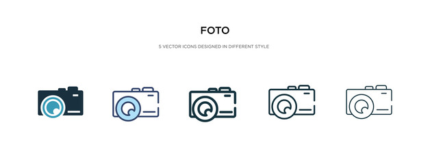 foto icon in different style vector illustration. two colored and black foto vector icons designed in filled, outline, line and stroke style can be used for web, mobile, ui
