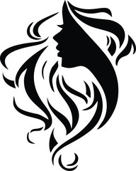 Hair Salon Logo Vector Silhouette