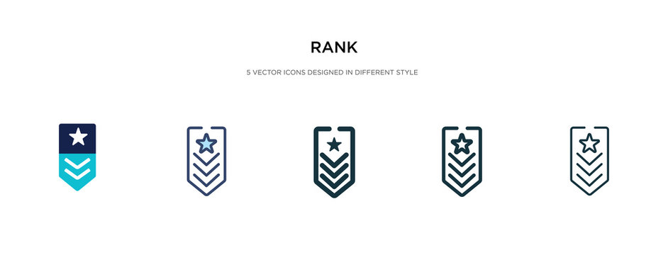 rank icon in different style vector illustration. two colored and black rank vector icons designed in filled, outline, line and stroke style can be used for web, mobile, ui