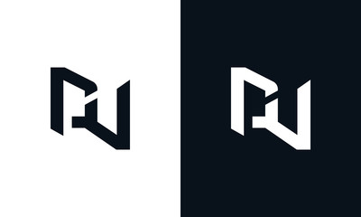 Minimalist abstract letter DV logo. This logo icon incorporate with two abstract shape in the creative process.