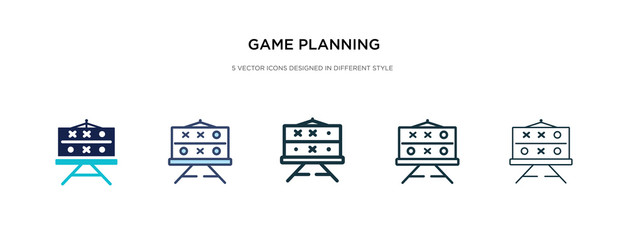 game planning icon in different style vector illustration. two colored and black game planning vector icons designed in filled, outline, line and stroke style can be used for web, mobile, ui