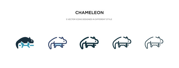 chameleon icon in different style vector illustration. two colored and black chameleon vector icons designed in filled, outline, line and stroke style can be used for web, mobile, ui
