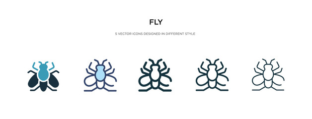 fly icon in different style vector illustration. two colored and black fly vector icons designed in filled, outline, line and stroke style can be used for web, mobile, ui