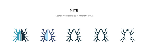 mite icon in different style vector illustration. two colored and black mite vector icons designed in filled, outline, line and stroke style can be used for web, mobile, ui