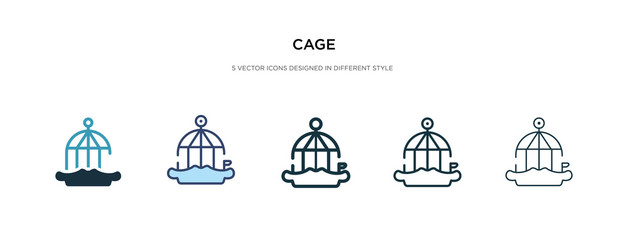 cage icon in different style vector illustration. two colored and black cage vector icons designed in filled, outline, line and stroke style can be used for web, mobile, ui